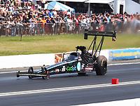 Jun 11, 2017; Englishtown , NJ, USA; NHRA top fuel driver Scott Palmer during the Summernationals at Old Bridge Township Raceway Park. Mandatory Credit: Mark J. Rebilas-USA TODAY Sports