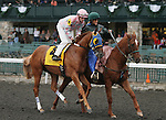 Solar Flair and Joseph Rocco Jr. in the 23rd running of the Bourbon Grade 3 $150,000 at Keeneland Race Course.   October 06, 2013.