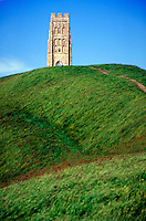 Glastonbury Tor, ancient civilizations, landmarks, anthropology, landscape, religions, Christianity, architecture, mythology, ruins, Holy Isle of the Monks. England.