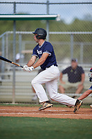 Jordan Sweeney during the WWBA World Championship at the Roger Dean Complex on October 18, 2018 in Jupiter, Florida.  Jordan Sweeney is a first baseman from Egg Harbor Township, New Jersey who attends Egg Harbor Township High School and is committed to Rutgers.  (Mike Janes/Four Seam Images)