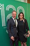 04.02.2019, Dorint Park Hotel Bremen, Bremen, GER, 1.FBL, 120 Jahre SV Werder Bremen - Gala-Dinner<br /> <br /> im Bild<br />  Marco Bode (Aufsichtsratsvorsitzender SV Werder Bremen) mit Ehepartnerin Kerstin Krückeberg<br /> <br /> Der Fussballverein SV Werder Bremen feiert am heutigen 04. Februar 2019 sein 120-jähriges Bestehen. Im Park Hotel Bremen findet anläßlich des Jubiläums ein Galadinner statt. <br /> <br /> Foto © nordphoto / Ewert