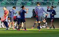 ST. GALLEN, SWITZERLAND - MAY 30: United States warming up before a game between Switzerland and USMNT at Kybunpark on May 30, 2021 in St. Gallen, Switzerland.