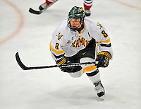 3 February 2008: University of Vermont Catamounts' forward Dean Strong, a Junior from Mississauga, Ontario, in action against the University of Massachusetts Lowell River Hawks at Gutterson Fieldhouse in Burlington, Vermont. The Catamounts defeated the River Hawks 3-2...Mandatory Photo Credit: Ed Wolfstein Photo