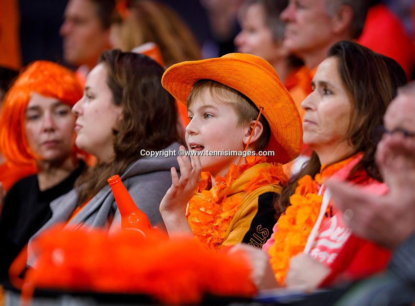 The Hague, The Netherlands, Februari 7, 2020,    Sportcampus, FedCup  Netherlands -  Balarus, Dutch supporters<br /> Photo: Tennisimages/Henk Koster