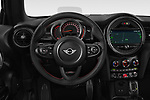 Car pictures of steering wheel view of a 2018 MINI Cooper JCW Door Hatchback Steering Wheel