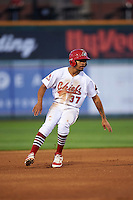 Peoria Chiefs shortstop Edmundo Sosa (37) running the bases during a game against the Dayton Dragons on May 6, 2016 at Dozer Park in Peoria, Illinois.  Peoria defeated Dayton 5-0.  (Mike Janes/Four Seam Images)