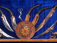 Messer-Schmied im Basar, Buchara, Usbekistan, Asien<br /> knife smith, Bazaar, Historic City of Bukhara, Uzbekistan, Asia