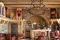 Luxury boutique hotel bar, Chateau Eza, Eza, Cote d'Azur, France