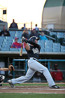 Rudy Flores (25) of the Visalia Rawhide bats against the Lancaster JetHawks at The Hanger on May 7, 2016 in Lancaster, California. Lancaster defeated Visalia, 19-5. (Larry Goren/Four Seam Images)