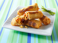 Traditional chinese spring rolls
