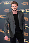 """Actor Liam Hemsworth during the presentation of film """"The Hunger Games: Sinsajo Part 2"""" in Madrid, Novermber 10, 2015.<br /> (ALTERPHOTOS/BorjaB.Hojas)"""