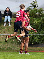 Action from the Auckland Secondary Schools 1A rugby match between Mt Albert Grammar School and King's College at MAGS in Auckland, New Zealand on Saturday, 14 August 2021. Photo: Simon Watts / www.bwmedia.co.nz