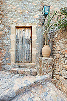 An old house in the Byzantine castle-town of Monemvasia in Greece