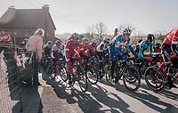 Philippe Gilbert (BEL/Quick Step floors) in the pack up the Leberg<br /> <br /> Omloop Het Nieuwsblad 2018<br /> Gent › Meerbeke: 196km (BELGIUM)