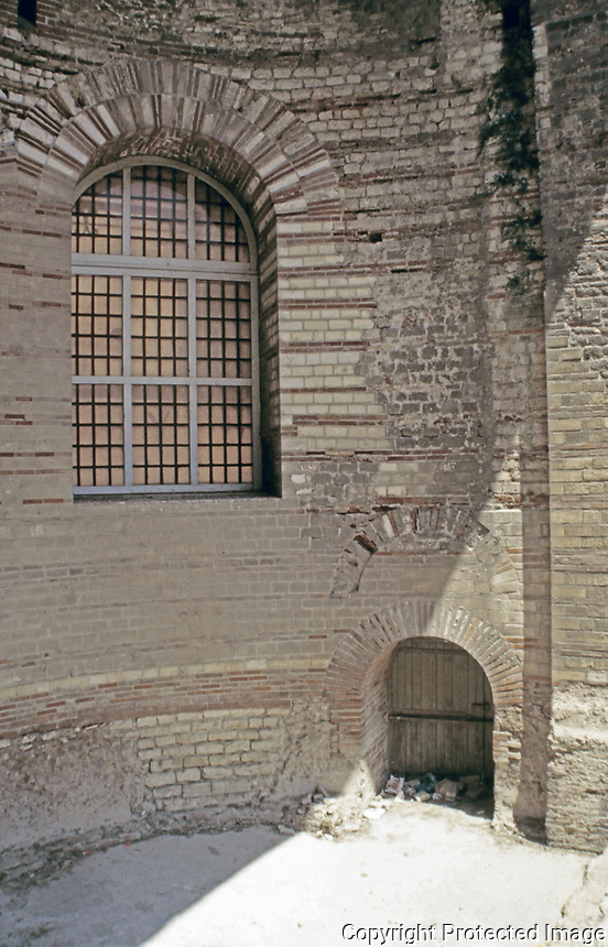 Interior of the Caldarium at the Baths of Constantine. Roman baths in Arles, France.