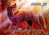 Carlie, REALISTIC ANIMALS, REALISTISCHE TIERE, ANIMALES REALISTICOS, paintings+++++Autumn-Wolf,AUED02,#A#, EVERYDAY