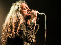 """Pictured: Fastway live on stage at Glasgow ABC as support to Saxon on the Battering Ram tour October/November 2016. <br /> Fastway is a British rock band formed by guitarist """"Fast"""" Eddie Clarke, formerly of Motörhead. The band consists of singer Toby Jepson formerly of Little Angels and Gun along with drummer Steve Strange. Andrew West/ RockingPix"""
