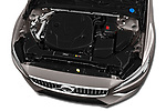 Car stock 2020 Volvo V60 Inscription 5 Door Wagon engine high angle detail view