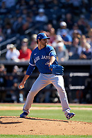 Toronto Blue Jays pitcher Jordan Romano (68) during a Spring Training game against the New York Yankees on February 22, 2020 at the George M. Steinbrenner Field in Tampa, Florida.  (Mike Janes/Four Seam Images)