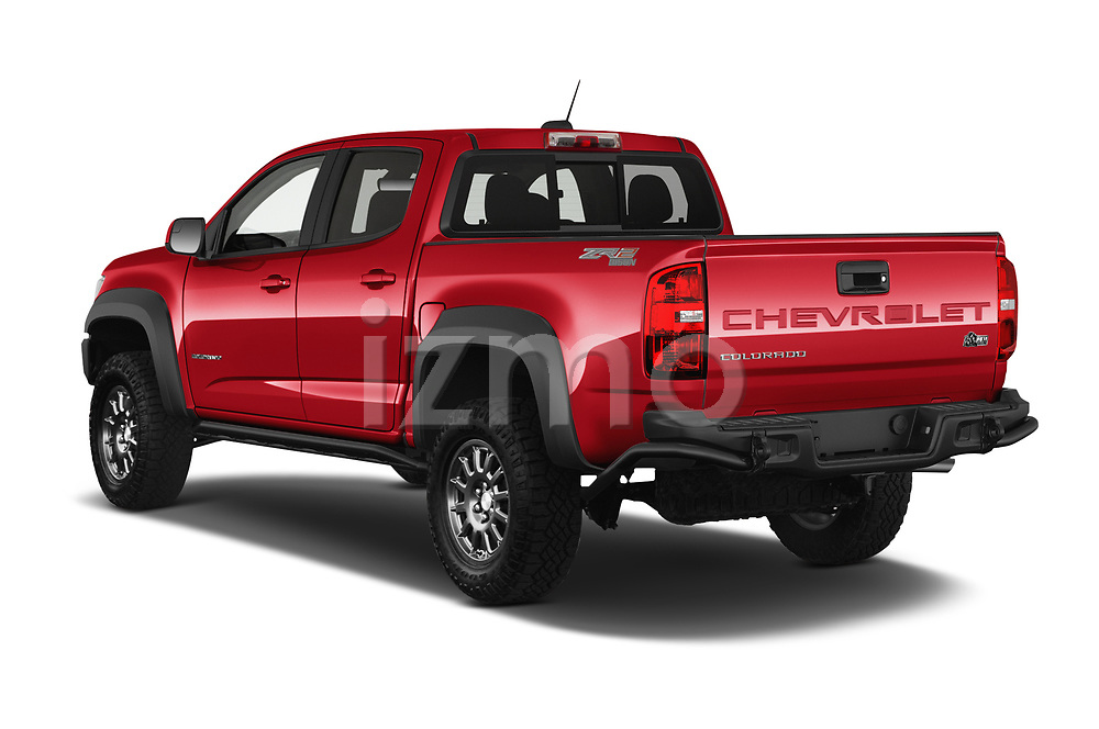 Car pictures of rear three quarter view of 2021 Chevrolet Colorado ZR2 4 Door Pick-up Angular Rear