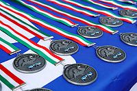 Medaglie seconda classificata <br /> Padova 09/06/2021 Centro Sportivo Plebiscito <br /> Campionato Italiano Serie A Pallanuoto Donne <br /> Gara 5 <br /> Plebiscito Padova - Ekipe Orizzonte Catania <br /> Photo Emanuele Pennacchio / Deepbluemedia / Insidefoto