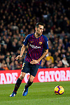 Sergio Busquets Burgos of FC Barcelona in action during the La Liga 2018-19 match between FC Barcelona and RC Celta de Vigo at Camp Nou on 22 December 2018 in Barcelona, Spain. Photo by Vicens Gimenez / Power Sport Images
