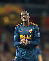Valencia Mouctar Diakhaby during the UEFA Europa League Semi-Final 1st leg match between Arsenal and Valencia at the Emirates Stadium, London, England on 2 May 2019. Photo by Andrew Aleksiejczuk / PRiME Media Images.