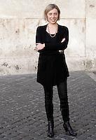 La portavoce dell'associazione antimafie daSud Celeste Costantino alla presentazione dei capilista di Sinistra Ecologia Liberta' a Roma, 7 gennaio 2013..UPDATE IMAGES PRESS/Riccardo De Luca