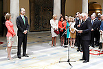 King Felipe IV of Spain and Queen of Spain Letizia withJuan Carlos Fitz-James Stuart and Martinez de Irujo, Duke of Alba during the commemoration of the bicentennial of the Delegation of the Greatness of Spain. June 16,2015. (ALTERPHOTOS/Acero)