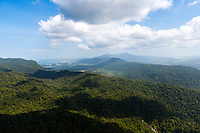 Langkawi panoramic landscape view from Gunung Machinchang