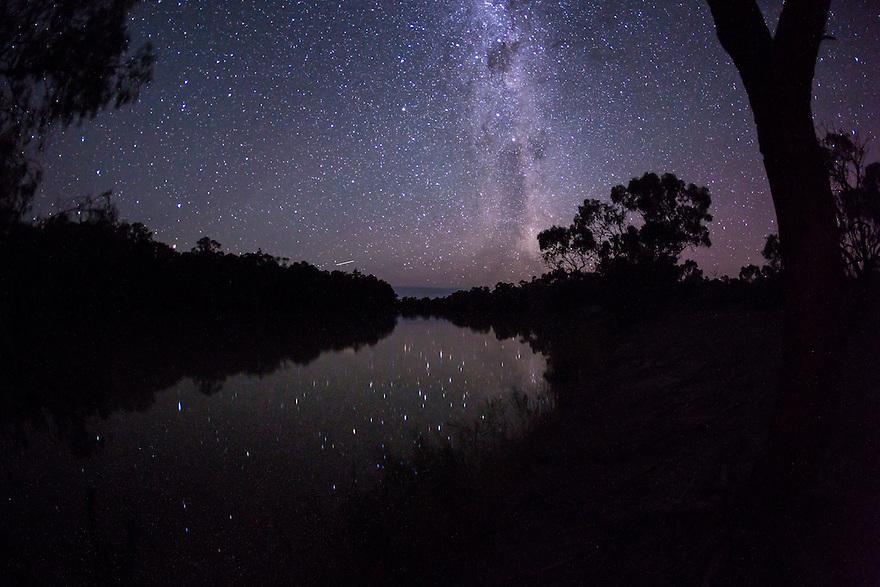 River Murray and stars Australia