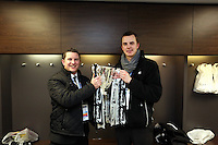 Pictured: Chris Barney (L). Sunday 24 February 2013<br /> Re: Capital One Cup football final, Swansea v Bradford at the Wembley Stadium in London.