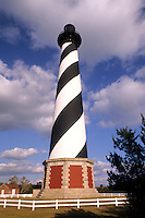 Cape Hatteras Lighthouse, the tallest in North America in its new location after it was moved in the Outer Banks, North Carolina, USA