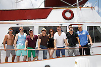 Ryan Carnes, John Driscoll, Christian LeBlanc, Christopher Sean, Melissa Archer, Jeff Branson, Ryan Paevey, Sean Carrigan - Actors from Y&R, Days and General Hospital donated their time to Southwest Florida 16th Annual SOAPFEST and during the weekend took a break to chill on one of the boats to see dolphins and to swim off Marco Island, Florida on May 23, 2015 - a celebrity weekend May 22 thru May 25, 2015 benefitting the Arts for Kids and children with special needs and ITC - Island Theatre Co.  (Photos by Sue Coflin/Max Photos)