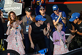 Poppy and Tilly Dixon dancing flash mob Scott Dixon, Chip Ganassi Racing Honda