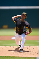 Bradenton Marauders pitcher Jared Jones (37) during a game against the Jupiter Hammerheads on June 27, 2021 at LECOM Park in Bradenton, Florida.  (Mike Janes/Four Seam Images)