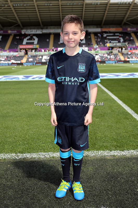 Manchester City mascot during the Swansea City FC v Manchester City Premier League game at the Liberty Stadium, Swansea, Wales, UK, Sunday 15 May 2016