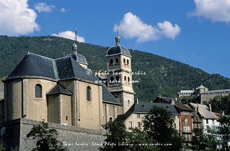 The Collegiale Notre Dame church in Briancon, French Alps, France.