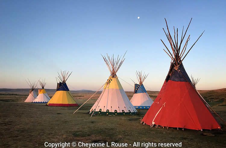 Colorful Tipis - Montana - Blackfoot REservation