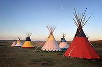 Colorful Tipis - Montana - Blackfoot REservation
