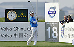 SUZHOU, CHINA - APRIL 16:  Y.E. Yang of  Korea tees off on the18th hole during the Round Two of the Volvo China Open on April 16, 2010 in Suzhou, China.  Photo by Victor Fraile / The Power of Sport Images
