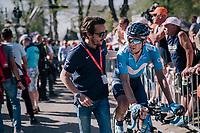 Mikel Landa (ESP/Movistar) post-race<br /> <br /> 82nd Flèche Wallonne 2018 (1.UWT)<br /> 1 Day Race: Seraing - Huy (198km)