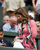 04-07-12, England, London, Tennis , Wimbledon,  Roger Federer's whife
