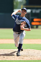 Tampa Bay Rays pitcher Cameron Varga (23) during an Instructional League game against the Baltimore Orioles on September 15, 2014 at Ed Smith Stadium in Sarasota, Florida.  (Mike Janes/Four Seam Images)