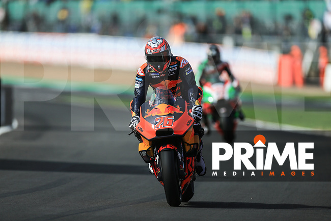 Loris Baz (76) of the Red Bull KTM Factory Racing race team during the GoPro British MotoGP at Silverstone Circuit, Towcester, England on 26 August 2018. Photo by Chris Brown / PRiME Media Images