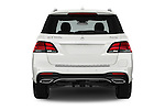 Straight rear view of 2017 Mercedes Benz GLE-Class GLE550e-4MATIC® 5 Door SUV Rear View  stock images