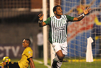 MEDELLêN -COLOMBIA-21-11-2013. Wilder Guisao  del Atletico Nacional celebra su gol  contra el Itagui durante partido de los cuadrangulares finales de la Liga Postob—n 2013 realizado en el estadio Polideportivo Sur ./  Wilder Guisao of National Atletico  celebrates his goal against Itagui during the quadrangular match League finals Postob—n 2013 held in Plideportivo Sur  Stadium.  Photo:VizzorImage / Luis Rios / Stringer