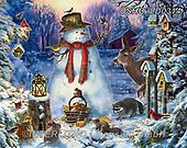 Liz,CHRISTMAS SANTA, SNOWMAN, WEIHNACHTSMÄNNER, SCHNEEMÄNNER, PAPÁ NOEL, MUÑECOS DE NIEVE, paintings+++++,USHCLD0314,#x#