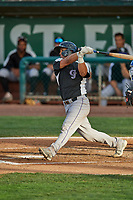 Henderson Perez (10) of the Grand Junction Rockies at bat against the Ogden Raptors at Lindquist Field on June 5, 2021 in Ogden, Utah. The Raptors defeated the Rockies 18-1. (Stephen Smith/Four Seam Images)