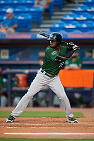 Daytona Tortugas right fielder Michael Beltre (33) at bat during a game against the St. Lucie Mets on August 3, 2018 at First Data Field in Port St. Lucie, Florida.  Daytona defeated St. Lucie 3-2.  (Mike Janes/Four Seam Images)
